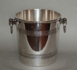 Vintage Neoclassical Ercuis Silver-plated Champagne Wine Ice Bucket Cooler