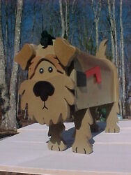 Airedale Terrier Dog Mailbox Custom Mailboxes Postal Mail Box Animal Dogs