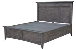 87 Rosa Bed And Headboard With Storage Beneath Reclaimed Hardwood Distressed