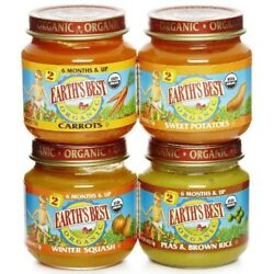 Earth`s Best Organic Stage 236Countcarrotspearswinter Squash 4 Ounce Jars