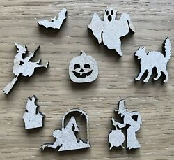 Halloween Wooden Craft Shapes - Witch Ghost Bat - Mdf - Various Sizes And Qtys