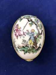 Aichi Seitosho Japan - Hinged Egg - Hand Painted - Antique