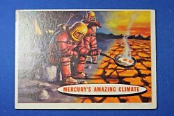 1957 Topps Space Cards - #77 Mercury's Amazing Climate - VG Condition