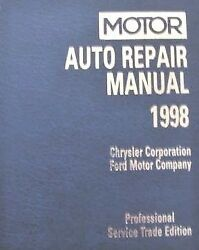 1998 Motor Auto Repr. Manualfor 1995-98 Chrysler Corp And Ford Pro. Trade Ed.