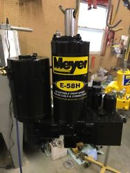 Meyer Snow Plow E58 E58-h Hydraulic Plow Pump - Sand Blasted Complete Rebuild