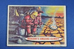 1957 Topps Space Cards - #77 Mercury's Amazing Climate - Good Condition