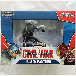 BLACK PANTHER CIVIL WAR STATUE AUTHENTIC NEW IN BOX!