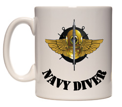 Navy Usn Clearance Diver Mug Cup Ceramic Scuba Salvage Commercial