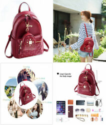Cute Small Backpack Mini Purse Casual Daypacks Leather for Teen Girls and...
