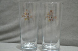 2x Morland Old Speckled Hen One Pint Glass Gold Logo Lager Beer Crown Marked New
