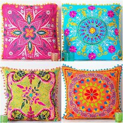 Vintage Embroidered Pillow Cases Suzani Cushion Cover Square 20 Handmade Pillow
