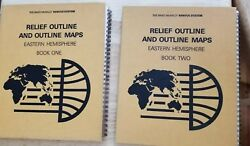 Bk 1 And 2 Rand Mcnally Ranvue System Relief Outline Maps Atlas Eastern Hemisphere