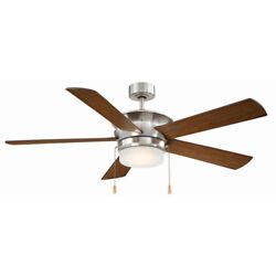 Capital 52 In Integrated LED Indoor Ceiling Fan Reversible Blades Brushed Nickel