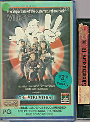 Rare Vhs Video Tape Ghostbusters Ii Ex Rental Big Box Clam Shell Focus Video