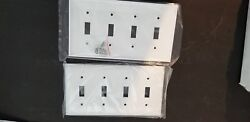 10  White Standard 4 hole Light Switch Cover Plastic Wall plate Magnatron