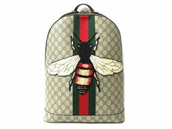 Gucci GG Supreme Animarie Embroidery Bee Backpack Shoulder Day Bag Ex++
