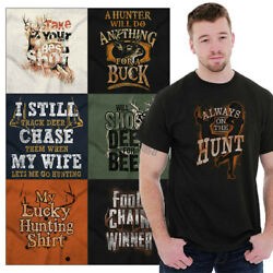 Deer Hunting Tee Shirt Graphic Hunt T-Shirt For Men Tees Shirts Gift Buck Tshirt