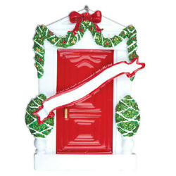 Red Door New Home Apartment Personalized Christmas Tree Ornament