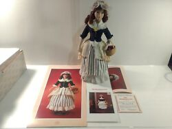 Franklin Mint Heirloom Dolls The Strawberry Girl And Coa Bisque Porcelain  Ds1325