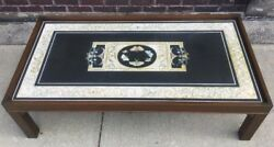 Rare Antique Large Butterfly And Cherub Italian Pietra Dura Coffee Table