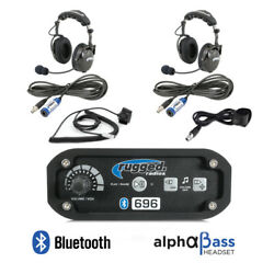 Rugged Radios Rrp696 2 Place Offroad Intercom Kit Alphabass Headsets Ptts Cables
