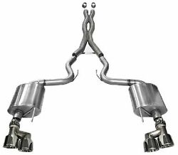 Corsa 14337 Sport Cat-back Exhaust W/ Quad Tips For 2015-2017 Mustang Gt 5.0l