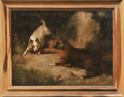 Fox Terriers - Antique Dog Painting