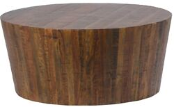 36 Diameter Alessandro Coffee Table 16 Tall Solid Natural Wood Rustic
