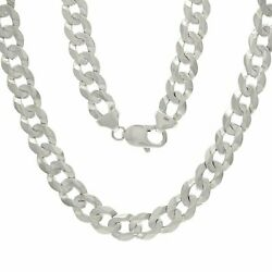 14k White Gold Solid Curb Cuban Link Chain Necklace 28 9mm 59.4 Grams