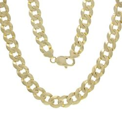 14k Yellow Gold Solid Curb Cuban Link Chain Necklace 28 9mm 59.4 Grams