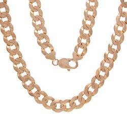 14k Rose Gold Solid Curb Cuban Link Chain Necklace 22 9mm 46.6 Grams