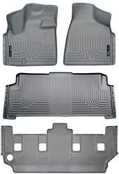 Husky Gray Front And 2nd And 3rd Row Liners For 08-16 Town And Country / Grand Caravan
