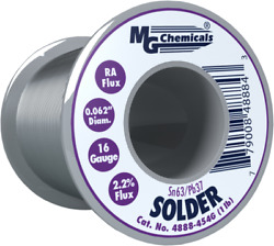 Mg Chemicals 4888-454g 1 Lb Roll Of Sn63/pb37 16ga 0.062and039and039 Rosin Flux Solder