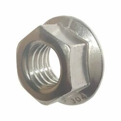 1/4-28 Stainless Steel Flange Nuts Serrated Base Lock Anti Vibration Qty 500