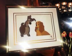 Lady And The Tramp Limited Edition Animation Cels Set Of 4