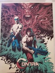 Mondo Contra Video Game Art Print Poster By Eric Powell Sdcc Exc Free Ship Ltd