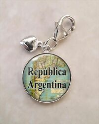 Choose South American City Or Country Vintage Map .925 Sterling Silver Charm