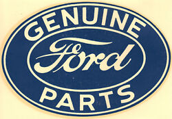 Vintage 60and039s Water Decal Genuine Ford Parts Hot Rod Muscle Car Truck Drag Racing