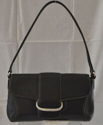 Cole Haan Black High Quality Leather Small Shoulder Purse