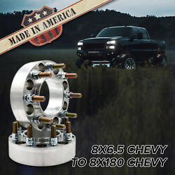 X2 8x6.5 To 8x180 Hub Centric Wheel Adapters / 2 Spacers | Chevy Gmc 2500/3500