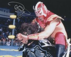 Ultimo Dragon Signed 8x10 Photo Wcw Wrestling Japan Lucha Libre Wwe Psychosis