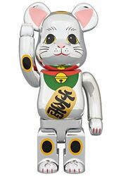 Be  Rbrick Beckoning Cat Silver Plated Figure 400% From Japan Limited Rare Cool