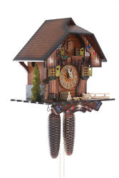 German Cuckoo Clock 8-day-movement Chalet-style 30cm By Hekas
