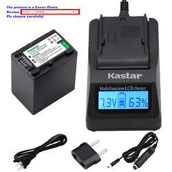 Kastar Battery Lcd Fast Charger For Sony Np-fv100 Hdr-xr155 Hdr-xr160 Hdr-xr260
