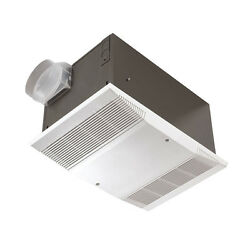 White 4-Sone 70-CFM Two Function Switch Bathroom Fan with Integrated Heater
