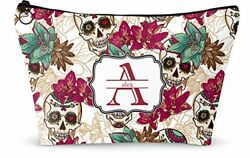 Sugar Skulls & Flowers Makeup Bag - Large - 12