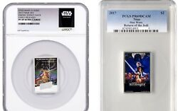 Star Wars Posters Empire Strikes Back Return Of The Jedi .999 Coin Ngc Pcgs 69