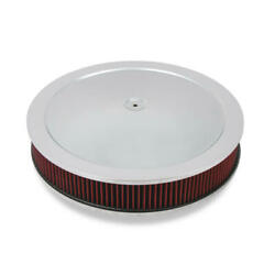 Holley Air Cleaner Assembly 120-4130 Chrome Steel Round 16.000 X 3.000