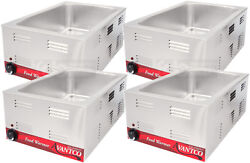 4 Pack Full Size 12 X 20 Electric Countertop Food Pan Warmer Commercial Chafer