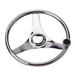 Sea-dog Steering Wheel-stainless With Integral Knob 13-1/2 230323